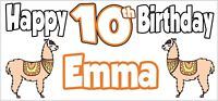 Llama Themed Personalised Birthday Banner x 2 - Party - Decorations - NAME & AGE