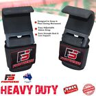 WEIGHT LIFTING POWER HOOKS for Grip DEADLIFT STRAPS Gym Wrist Support HEAVY DUTY