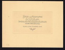 09)Nr.123- EXLIBRIS- Gelegenheitsgrafik,Friedrich Teubel