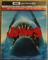 Jaws (4K Ultra HD/Blu-ray 2-Disc Set) W/ Lenticular Slipcover, No Digital Copy