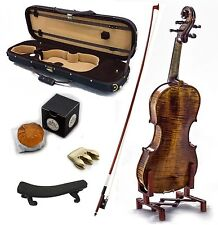4/4 Antique Style Professional Handmade VN402 Violin Kit w Case Bow Rosin Mute
