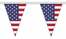 USA AMERICAN 20 metre TRIANGLE BUNTING 30 FLAGS flag 54 FLAGS UNITED STATES