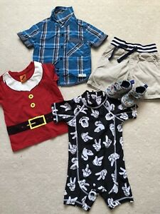 Summer Boy Size 1, Incl Pair Of Shoes, Xmas Top , Short & Swimmer Suit , As New
