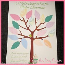 Baby Shower Game - A Wishing Tree for Baby - 20 Guests - PERSONALISED