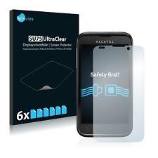 6x Alcatel One Touch OT-995 Displayschutzfolie Klar Schutzfolie Displayfolie