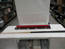"""New listing 58"""" 18oz 2 Piece Wooden Billiard Pool Cue with Hard Shell Case and Chalk (AS)"""