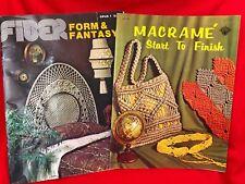 Macrame Pattern Book Lot Plant Hanger & Wall Hanging Bags Jewelry Lamp Headboard