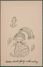 Andy Warhol :  Holy Cats, C. 1957 offset lithographs original first printing
