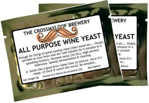 Wine Yeast. 2 All Purpose Home Brew Yeast Packs Suitable for Wine,Cider,Mead,etc