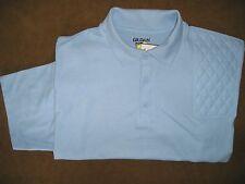 Xl Lh Trap/Skeet Pad Light Blue Short Sleeve 50/50 Dryblend Pique Knit Polo