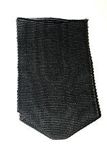 Ruban noir coton moiré pour Ordre de Malte ou autres