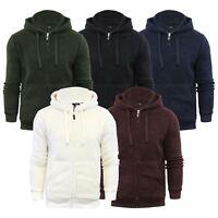 Mens Hoodie Brave Soul Shaun Sherpa Fleece Zip Up Hooded Sweater