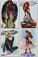 Amazing Spiderman #14 A B C D Variant Set J Scott Campbell Signed