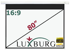 "Luxburg® 80"" 186x104 cm 16:9 Full HD 3D Electric Motorised Projector Screen"