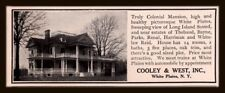 1908 AD FOR SALE REAL ESTATE COLONIAL MANSION WHITE PLAIN VIEW LONG ISLAND SOUND