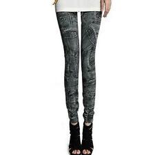 Womens Leggings Jeans Denim Looking Jeggings Skinny Stretchy Long Pants Trousers