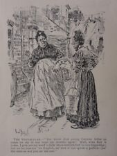 London & Cockney Life THE VERNACULAR YER KNOW THAT GERMIN Antique Punch Cartoon