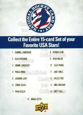 2012 Upper Deck National Hockey Card Day USA #17 Checklist