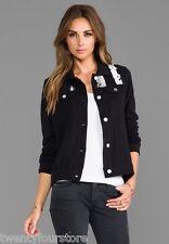 NWT $150 Chaser LA Flag Fleece Jean Jacket in Black sz M