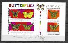 SIERRA LEONE   Butterflies of the World Mini Sheet of 6 MINT NH