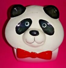 BEAUTIFUL VINTAGE PANDA BEAR COOKIE JAR