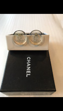 STUNNING CHANEL CLIP-ON EARRINGS GOLD CRYSTAL CCs