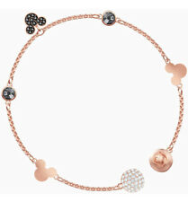 More details for swarovski remix collection disney rose gold mickey mouse chain charm bracelet m