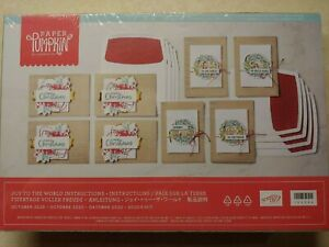 Stampin Up Paper Pumpkin- JOY TO THE WORLD - REFILL KIT, makes 8 ELEGANT cards!!