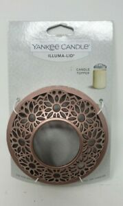 Yankee Candle Illumina Lid Gold Floral Metal Topper