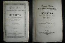 Compte rendu des constitutions des jésuites -1826