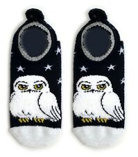 LADIES HARRY POTTER HEDWIG OWL WARM FOOTLETS SHOE LINERS UK 4-8  USA 6-10