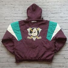 Vintage 90s Anaheim Mighty Ducks Pullover Parka Jacket by Starter Size L