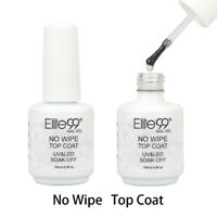 Elite99 No Wipe Top Coat Sealer Soak Off Gel Polish Clear Nail Art Manicure 15ml