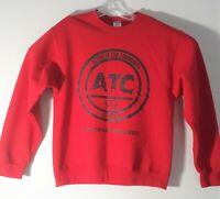 Jerzees Unisex Sweatshirt Size M Red Long Sleeve Round Neck Pull over We Active