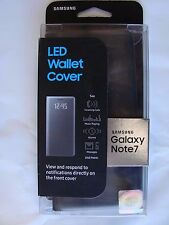 Genuine Samsung LED Wallet Cover/Case for Samsung Galaxy Note 7 Black