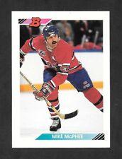 1992-93  BOWMAN HOCKEY , # 89 , MIKE McPHEE , MONTREAL CANADIENS