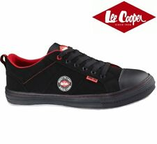 Mens Lee Cooper Black safety shoes Trainers Metal toe Cap UK size 10