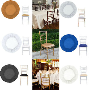 Chiavari Wedding Event Spandex Seat Pad Cover Elastic Edge Chair Slipcover