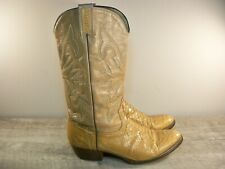 Vintage Cowboy Joe 2-Tone Pull On Leather Men's Western Rodeo Riding Boots 9.5