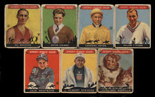 1933 GOUDEY SPORT KINGS ~ LOT OF 7 ~ BASKETBALL-TENNIS-HORSE RACING-SKIING +