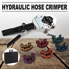 Hydraulic Hose Crimper Tool Kit 7 Dies Portable Hose Fittings Handheld Crimping