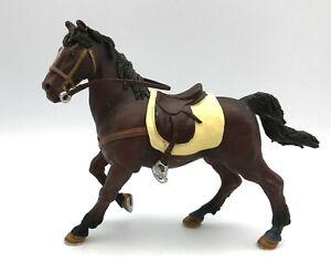 Papo BROWN HORSE w/SADDLE Stallion (No Rider) 2002 Figure 51057