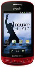 Samsung R720 - RED Cellular phone -  Muve Music Vitality Cricket