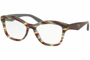 Prada VPR29R VAP1O1 52MM Grey Eyeglasses Authentic RX VPR29R 52-17 W/CASE