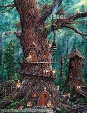 Forest Gnome 1000 Piece Large Piece Jigsaw Puzzles SunsOut Puzzle Art Collection