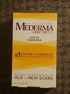 New Mederma SPF 30 scar cream/ SPF 30 Sunscreen 0.70 oz (20g) Exp: 12/2021