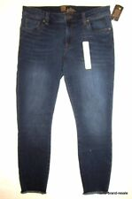 Kut from The Kloth NWT Jeans WOMENS 10 Dark Faded Denim Skinny Leg Fray Hems NEW