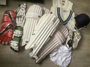 Junior / Youth Cricket Kookaburra, GM, Fearnley, Gray Nicholls Hemet, Pads, Glov