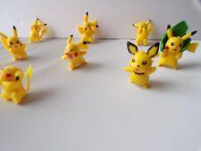 """VTG Lot of 8 Yellow Pokemon Figures Pokémon Go Miniature 1"""" Pikachu Action Toys"""