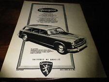 PEUGEOT - FAMILIALE GRAND LUXE 403 - Publicité de presse / Press advert !!! 1956